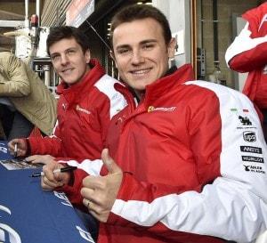6 Ore di Spa-Francorchamps - Sessione autografi per Rigon