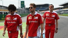 F1 Germania, i piloti ispezionano l'Hockenheimring
