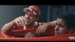 Vettel porta sul simulatore il campione paralimpico non vedente