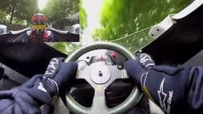 Al volante della Williams FW08 di Keke Rosberg