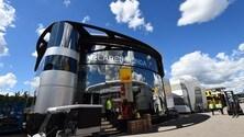 Il Circus è in città: i motorhome dei team di Formula 1