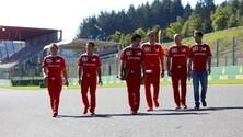 Formula 1 Spa, i piloti a passeggio nella