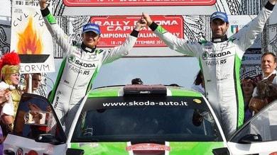 Rally di Roma, vince Scandola, il titolo si decide al Due Valli