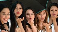 Le grid girls del GP di Malesia
