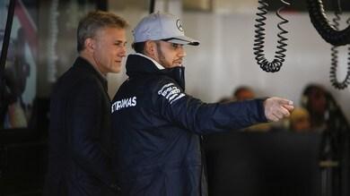 Formula 1 Usa, Chris Waltz nel box di Hamilton