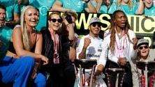 Formula 1 USA, una parata di star per festeggiare Hamilton