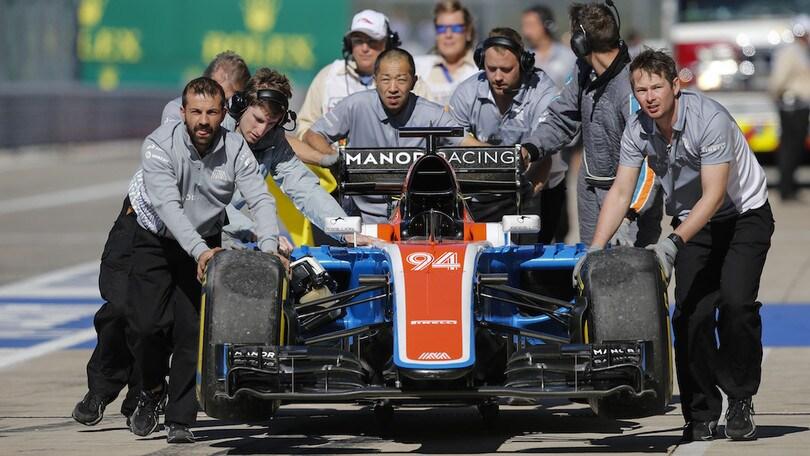 Formula 1, Manor vicina al fallimento: rischia di salutare il mondiale