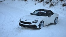 Abarth 124 R-GT, test al Rally di Montecarlo