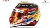 Ecco il nuovo design del casco di Hamilton