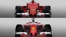 Ferrari, SF16-H e SF70H a confronto