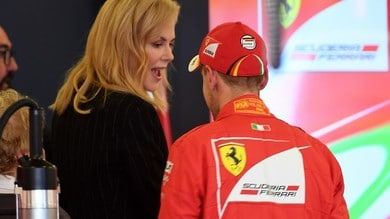 F1 Australia, Nicole Kidman nei box Ferrari