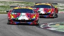 WEC, le Ferrari GTE in pista a Monza