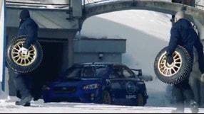 Higgins lancia la Subaru STi nella pista bob di St. Moritz
