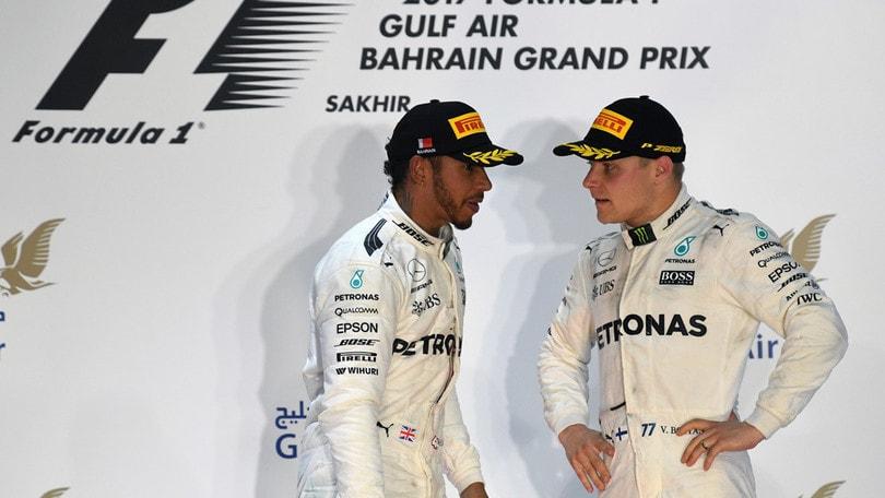 Test Bahrain Day 1, guida Hamilton davanti a Giovinazzi