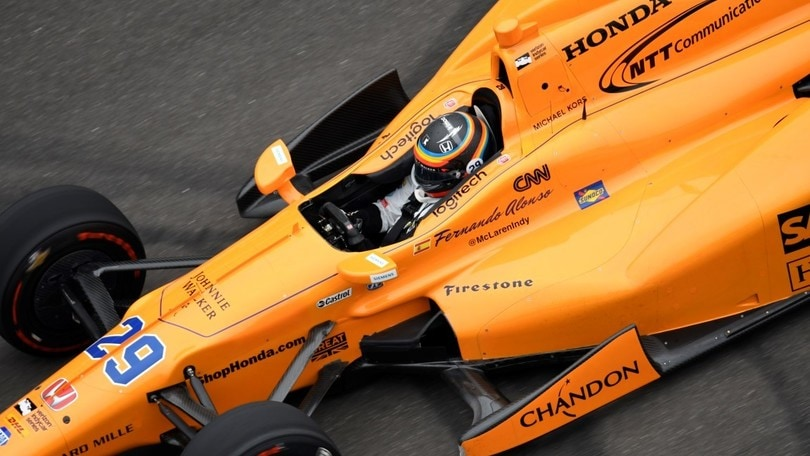 Indy 500, Libere 3: Carpenter al top, Alonso sale al quarto posto