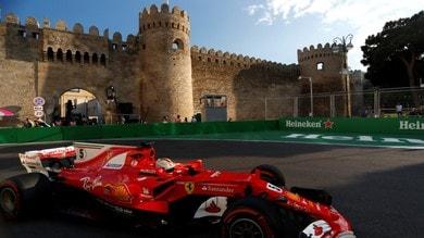Formula 1 Baku: Vettel a caccia del ritmo, Kimi di temperatura