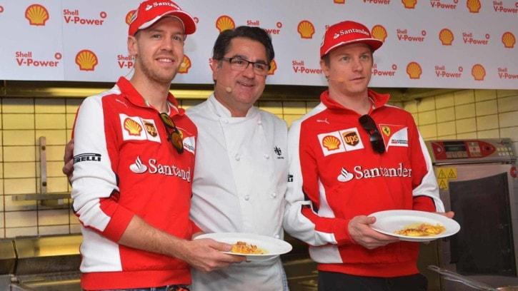 Formula 1, Ferrari alla prova del cuoco