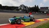 Mick Schumacher guida a Spa la Benetton del padre