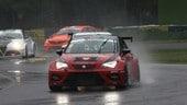 TCR Imola, Giacon di un soffio in gara 1, Baldan sotto la pioggia in gara 2