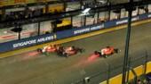 F1 Singapore, la sequenza dell'incidente tra le Ferrari e Verstappen