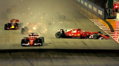 Formula 1 Singapore: delusione Arrivabene, Horner difende Verstappen