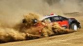 Con Meeke a bordo della Citroen C3 che ha vinto il Rally di Spagna