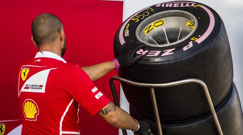 Formula 1: le gomme Pirelli 2018 in anteprima