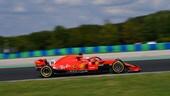 Hungaroring, Giovinazzi alla guida della Ferrari SF71H