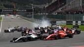 Formula 1 Belgio, pauroso incidente al via: foto