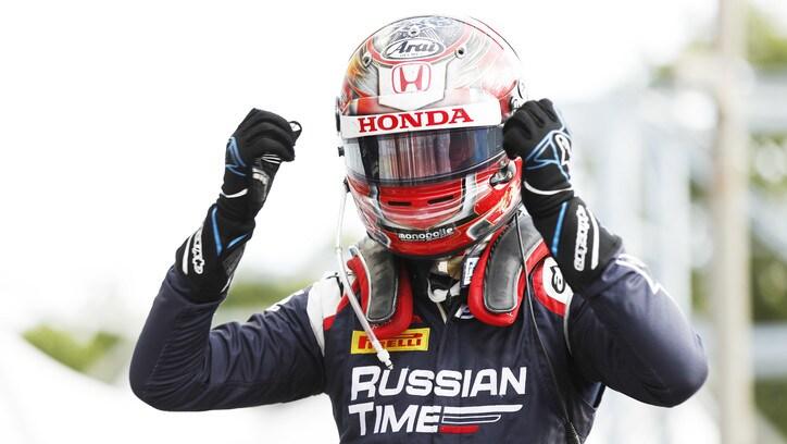 F2 Monza, per Makino gran vittoria di strategia nellaFeature Race