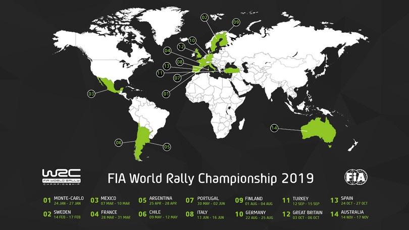 Calendario Mondiali 2020 Pdf.Calendario Mondiale Rally 2019 14 Tappe Torna Il Tour De