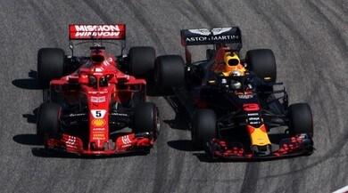 Formula 1 Usa, il contatto tra Vettel e Ricciardo: fotosequenza
