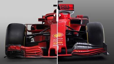 Ferrari SF90 e Ferrari SF71H a confronto