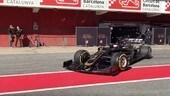 Formula 1, Haas VF19 in pista a Barcellona