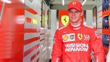 Mick Schumacher debutta sulla Ferrari: foto