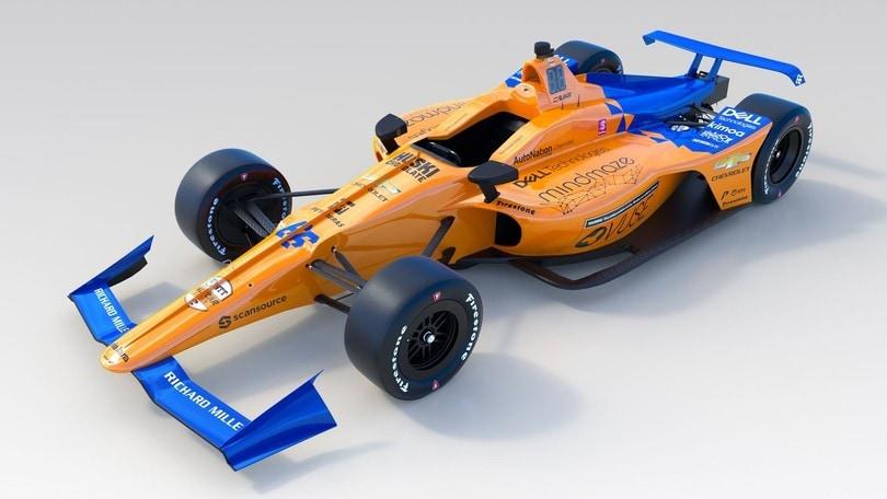 Indy 500, McLaren presenta la livrea della monoposto di Alonso