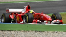 Mick Schumacher sulla Ferrari F2004: Foto