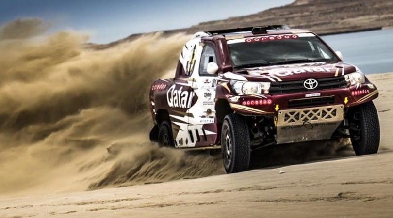 Nasser Al-Attiyah sulla nuova Toyota Hilux