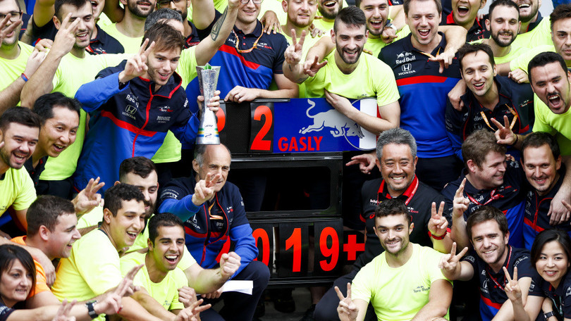 Gasly, GP Brasile: podio da sogno con Toro Rosso, grazie Honda - Autosprint