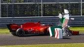 GP Italia, il ritiro di Vettel: Foto