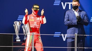 Mick Schumacher con Alfa Romeo al Nurburgring