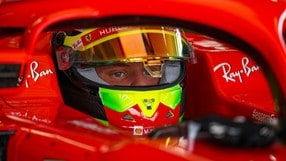 Mick Schumacher, test a Fiorano sulla Ferrari SF71H VIDEO