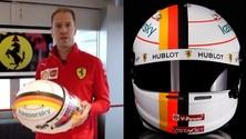 GP Eifel, Vettel col casco speciale per Michael Schumacher FOTO