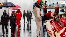 GP Eifel, pioggia e nebbia: niente sessione di prove libere sul Nürburgring FOTO
