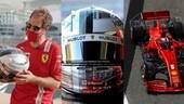 GP Abu Dhabi, Vettel con il casco speciale per l'ultima gara in Ferrari