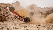 Dakar, brutto incidente per Henk Lategan
