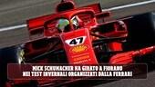 Mick Schumacher a Fiorano con la Ferrari