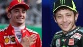 """Valentino Rossi su Leclerc: """"Il più forte ora in F1 ma la sua monoposto Ferrari..."""