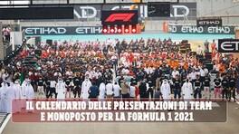 F1 Mondiale 2021: il calendario completo delle presentazioni di team e monoposto