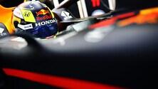 Red Bull, Perez al volante della RB15 a Silverstone